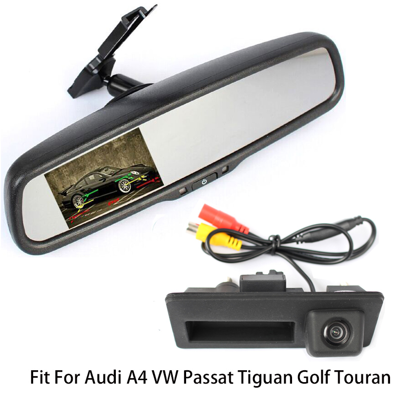 Rearview Vehicle Camera Car Rear Camera For Audi A4 VW Passat Tiguan Golf Touareg With Car