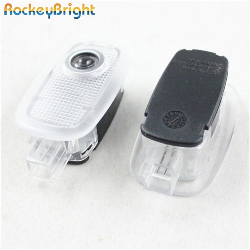 Rockeybright led car door logo laser projector light for mercedes W164 C197 W204 X204 C207 W212 W216 W211 R230 car logo light
