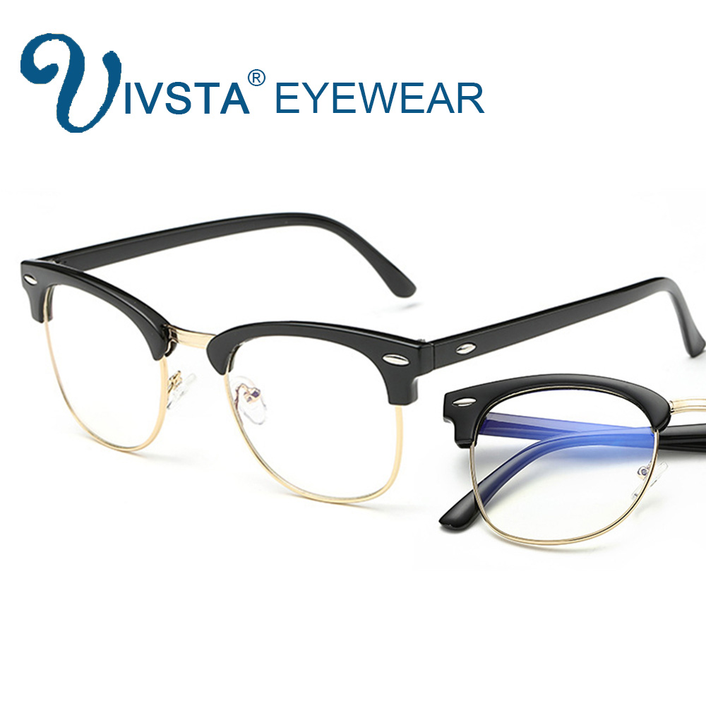 IVSTA Transparent Gaming Glasses for Computer TV Phone User Anti Blue Rays Clear Lens Optical Frame Myopia Spectacle Game 3016