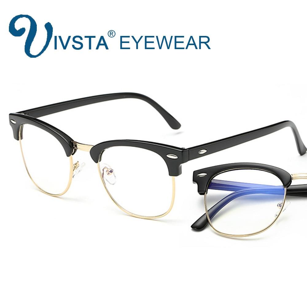 IVSTA transparente gafas de juegos para ordenador TV teléfono usuario Anti azul rayos claro lente marco óptico miopía espectáculo juego 3016