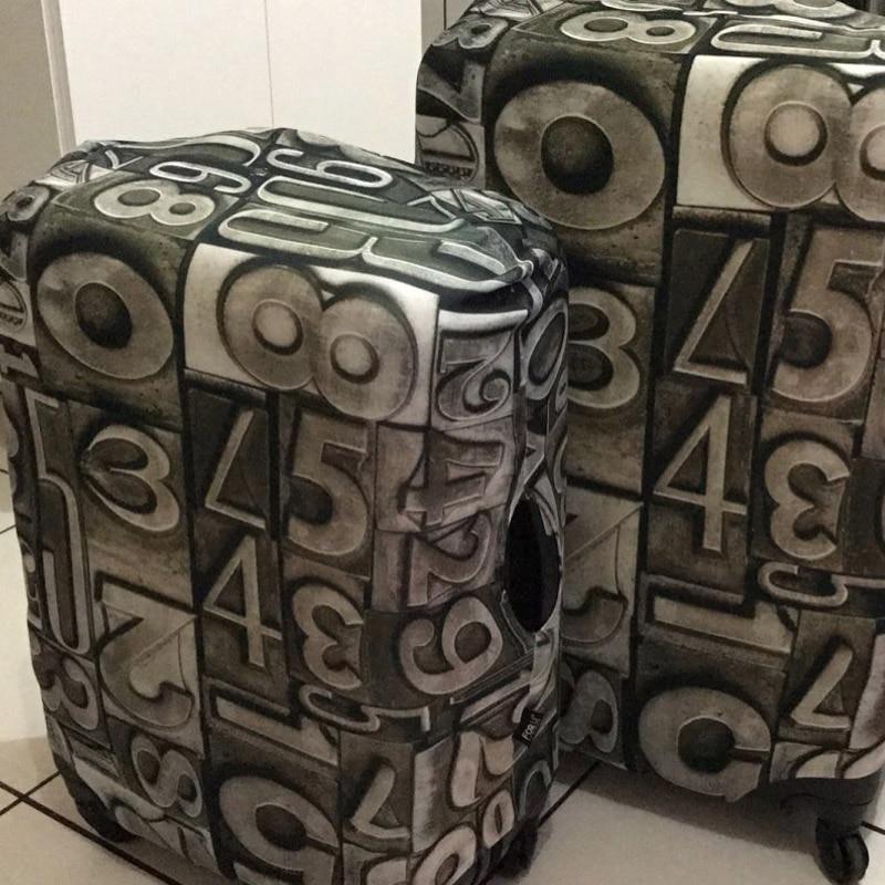 FORUDESIGNS Elastic 3D Cool Bagāžas aizsardzības vāki Metāla - Ceļojumu piederumi - Foto 2