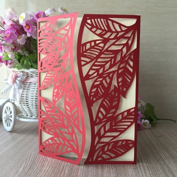 30Pcs Laser Cut Pearl paper Happy Birthday Dinner Party Wedding Invitation Cover Card Greeting Blessing card