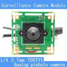Color HD CMOS 1/4 700TVL Mini CCTV pinhole Camera Module 3.7mm Lens+PAL or NTSC Optional surveillance cameras
