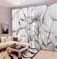 Занавески для домашнего декора  занавески для гостиной  3D занавески для спальни  3D занавески с принтом одуванчика