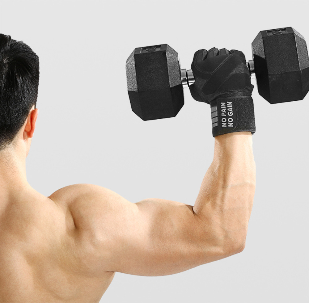 Levantamento de Peso Treinamento Luvas Aperto Pad Workout