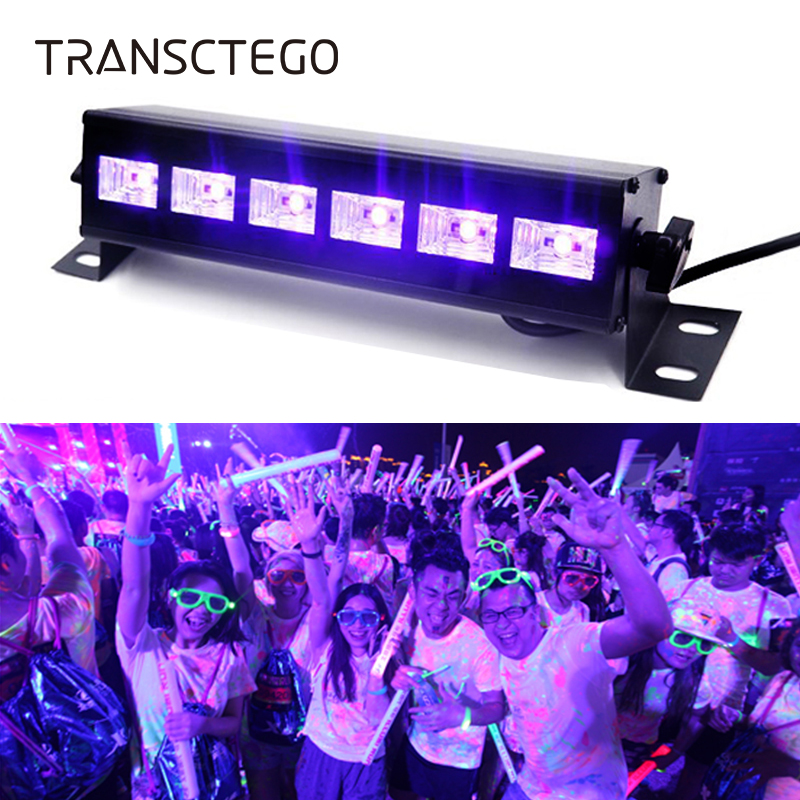 Halloween UV Violet Stage Light LED Bar Lamp Purple Laser Projector Christmas Disco Lamp Club Decoration Party Wall Washer Light