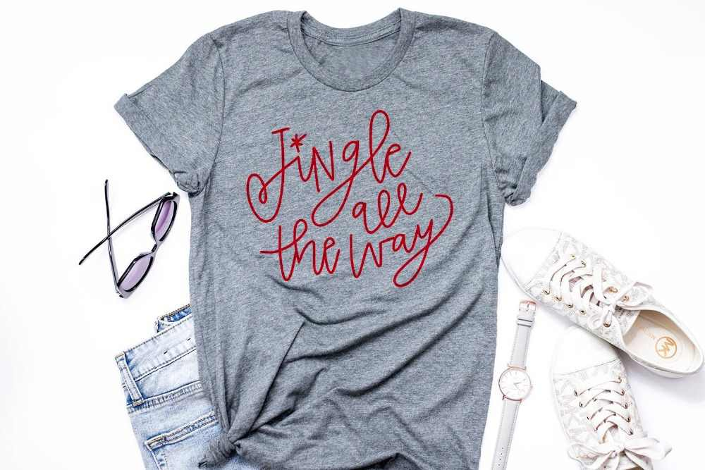 861e147c Detail Feedback Questions about Jingle all the way t shirt Jingle Bells Tee  Adult Christmas Shirt Lettered Christmas holiday gift celebrate slogan  women art ...