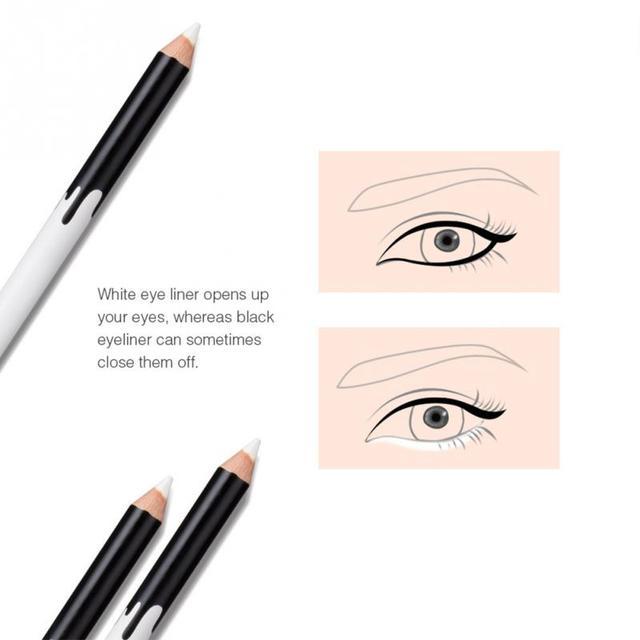 12PCS/Lot white Make Up  Pen Eyeliner Eye Liner Pencil Eyebrow Eyeshadow Cosmetics Eyes Makeup Tools 4