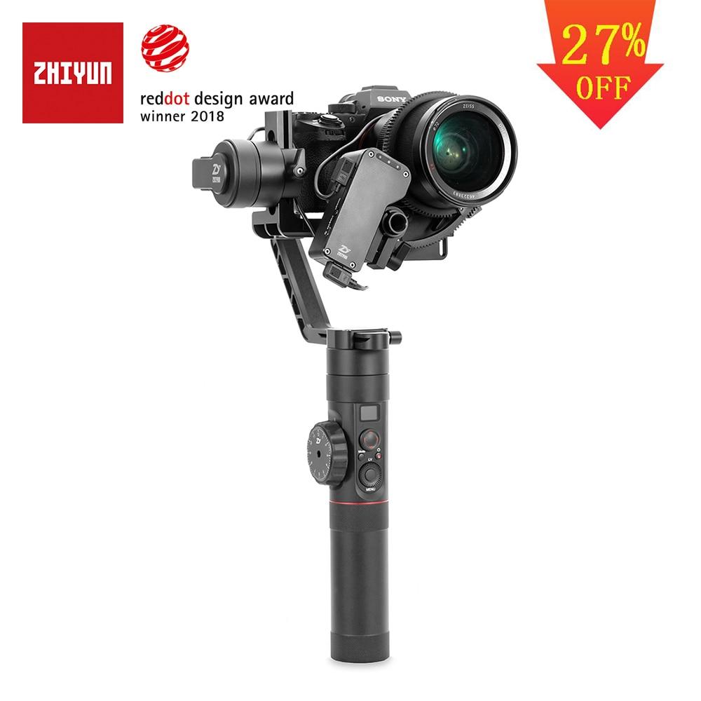 ZHIYUN Oficial Guindaste 2 3-Eixo Cardan Estabilizador para Todos Os Modelos de DSLR Camera Mirrorless Canon 5D2/3 /4 com Servo Follow Focus