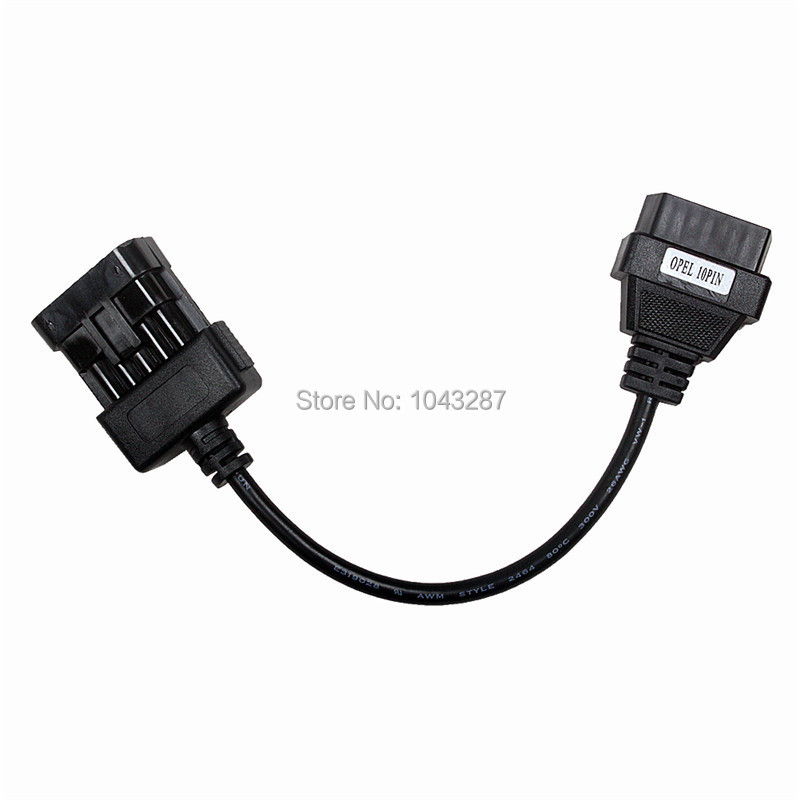 Opel 10Pin To 16Pin OBD2 Car Extension cable obd2 Diagnostic Adapter Connector Opel 10 PIN Connector Cable elm327 obd obd2 16pin male to female extension cable 30cm transfer connector obd2 16 pin adaptor obd2 car diagnostic adapter