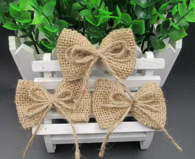 Diy Handmade Accessories 100 Jute Butterfly Craft 10 Pieces In The Set For Home