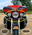 """7"""" LED Projector Daymaker Motorcycle Headlights + 4.5"""" Passing Fog Lamp Fit Harley"""
