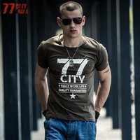 77City Killer Mens Military Army T Shirt 2017 Men Star Loose Cotton T Shirt O Neck