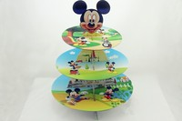 Spedizione Gratuita Micky Mouse cupcake basamento della torta del fumetto dolce sta baby boy ragazza bambini birthday party decoration forniture favori