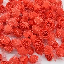 50 100 200pcs 3 5cm Mini PE Foam Rose Heads Artificial Silk Flowers For Home Garden