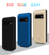 5000/6000mAh TPU Battery Charger Case For Samsung Galaxy S10 S10E S10+ Battery Charging Power Bank Case For Samsung S10 Plus цена 2017