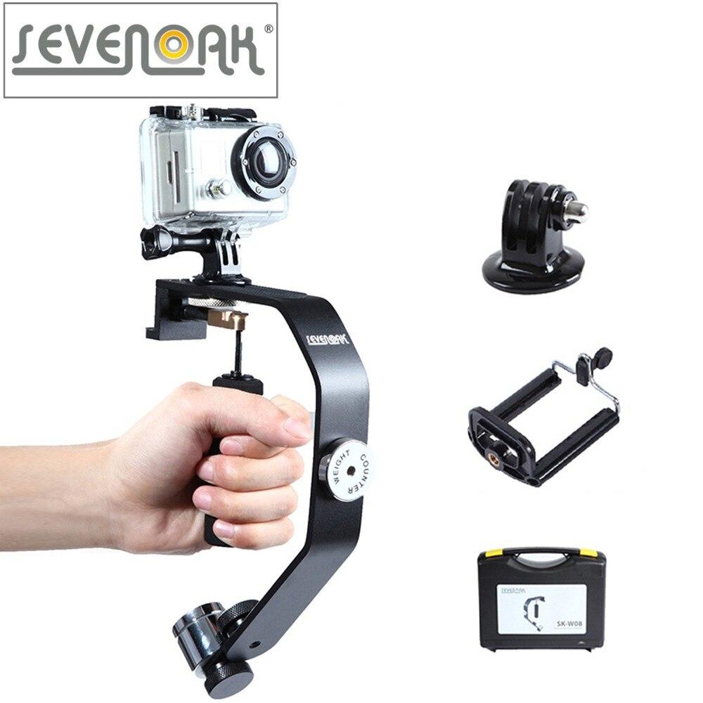 Sevenoak SK-W08 Motion Caméra Stabilisateur Cardan Poche Steadycam pour iPhone 6 6 Plus 5 4s GoPro Hero 4 3 3 +