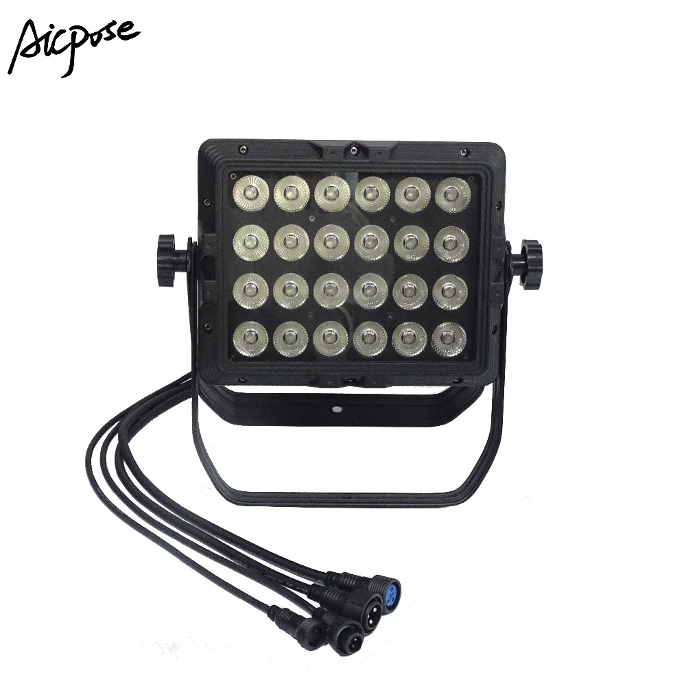 Aspiring Ip65 Waterproof Wall Washer 24x18w Rgbwa Uv 6in1/rgbw 4in1/rgbwa 5in1 Led Outdoor Rainproof Stage Light Square Par Light Stage Lighting Effect