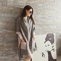 La moda de nueva señoras de la manera de lana de invierno las mujeres Gruesas de invierno bufandas nuevo diseño de tejido de bolsillo bufanda de pareja