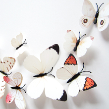 12pcs/set 3D wall stickers butterfly fridge magnet wedding photography props art design decal home decoration decals