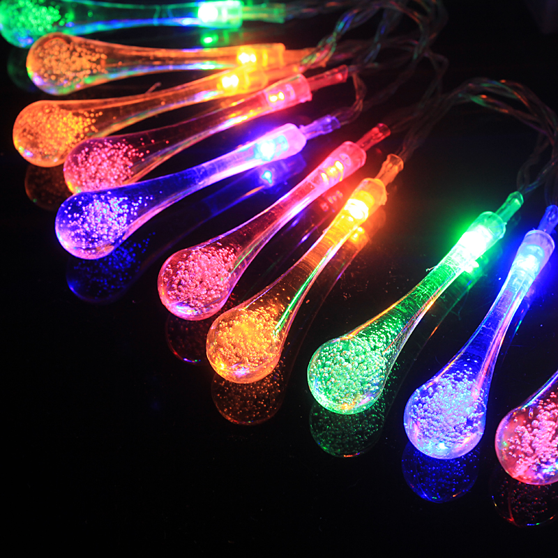 aliexpresscom buy 48m 20 led raindrop solar powered outdoor string lights for outside garden patio party christmas 2 modes multi color from reliable - Raindrop Christmas Lights
