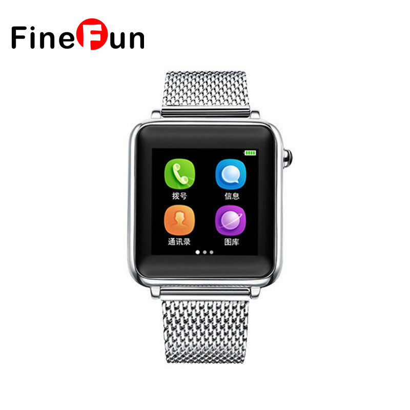 ФОТО FineFun L1+ Bluetooth Smart watch for iOS & Android Phone Clock Intelligent Exchangable Strap Smartwatchs