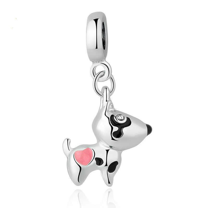 MOQ 1pc darmowa wysyłka dziewczynka chłopiec buddy kot pies mickey łańcuch diy koralik Fit bransoletka typu charm pandora EL145