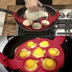 YTE Pfannkuchen Maker Antihaft Kochen Werkzeug Runde Herz Pfannkuchen Maker Ei Herd Pan Flip Eier Mold Küche Backen Zubehör