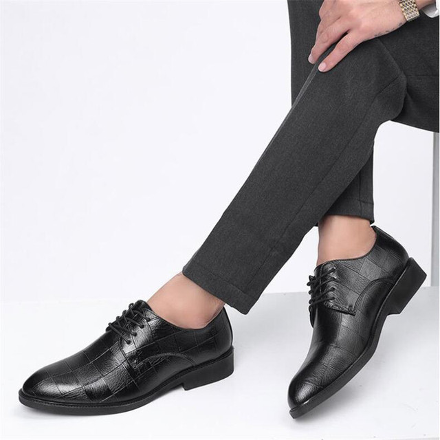Men's Multicolor Leather Checkered Shoes