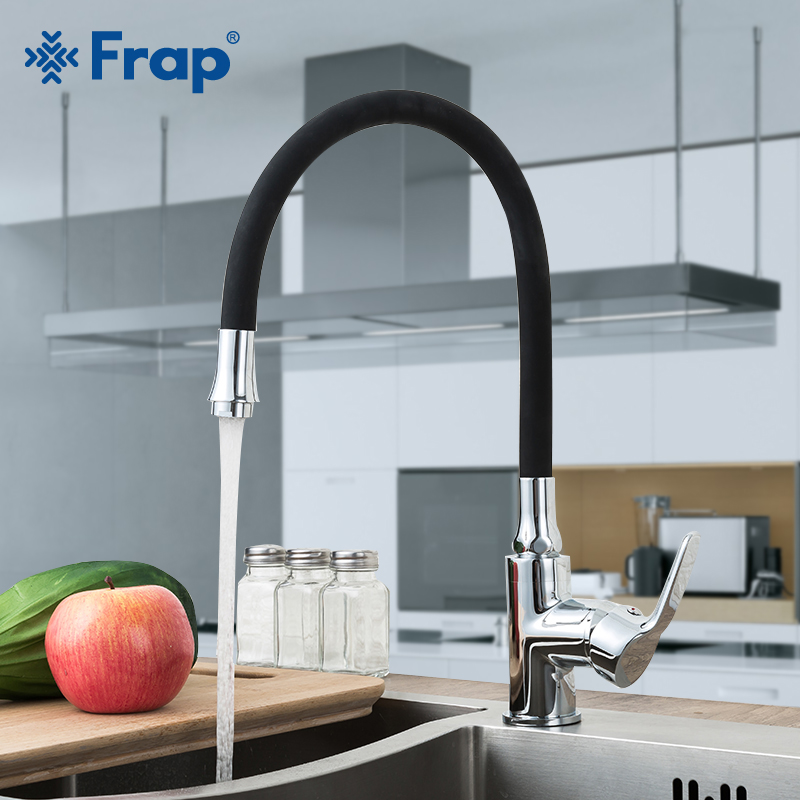 Frap  Black  Faucet kitchen deck mounted Single Handle  brass  mixer faucet tap kitchen water tap single faucet colorwater      Frap  Black  Faucet kitchen deck mounted Single Handle  brass  mixer faucet tap kitchen water tap single faucet colorwater