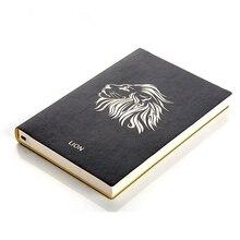 Твердый переплет животных печати кожаный Тетрадь личный дневник планировщик Ноутбуки Канцтовары, школьные принадлежности график блокнот