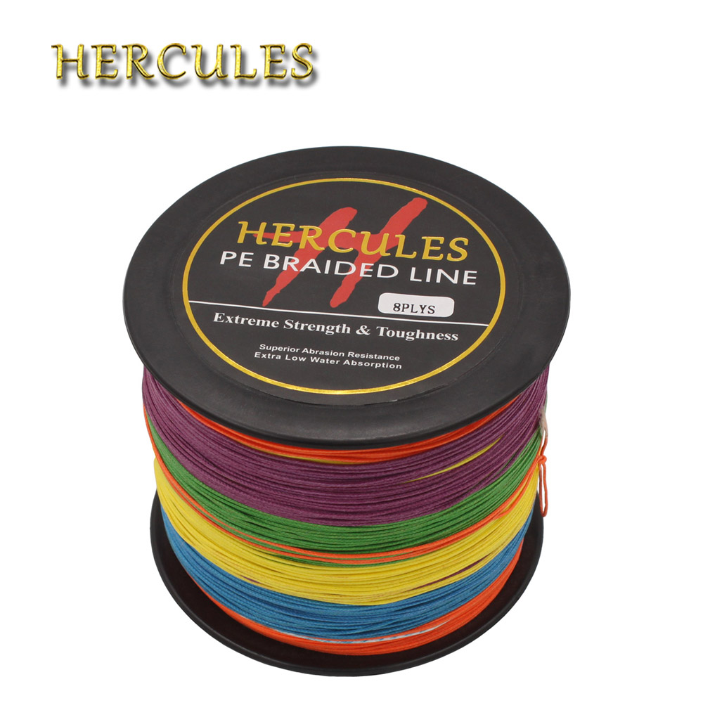 Hercules PE Braided <font><b>Fishing</b></font> <font><b>Line</b></font> Sea Saltwater Big Game Super Strong <font><b>8</b></font> <font><b>Strands</b></font> 300LB Multicolor 100M 300M 500M 1000M 1500M 2000M