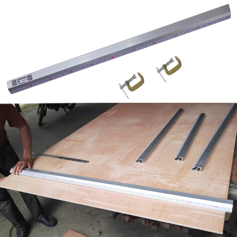 45 Degrees Chamfer Fixture Electric Circular Saw Cutting Machine Guide Foot Ruler Guide Woodworking Tools