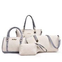 5pcs Women Bag Set European & Amiercan Alligator Leather Totes Patchwork Fashion Boston + Purse