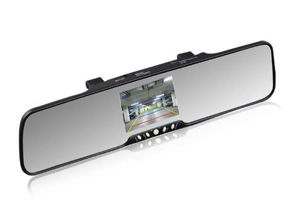"3.5"" TFT Monitor+bluetooth car rearview mirror+car backup reversing camera"
