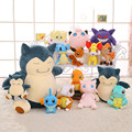 Big Size Pikachu Plush Toys Very Cute Snorlax Charmander Squirtle Bulbasaur Plush Toys For Children's Gift 30cm