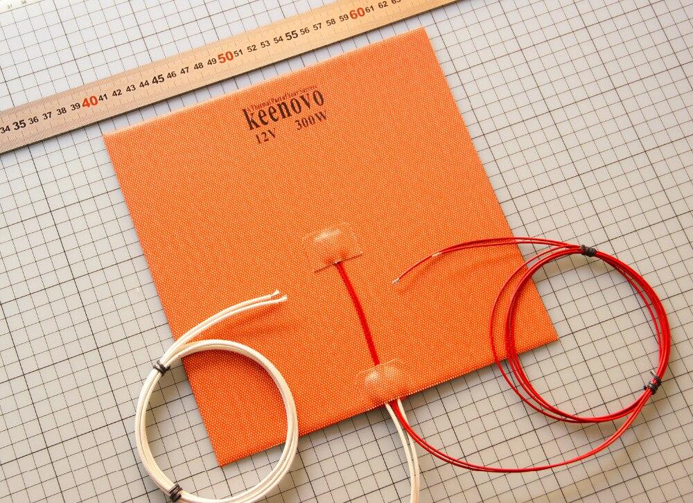 240X240mm 300W @ 12 V, w/NTC 100 K thermistance, 3 M PSA Keenovo Silicone chauffage imprimante 3D lit chauffant, qualité de première qualité garantie