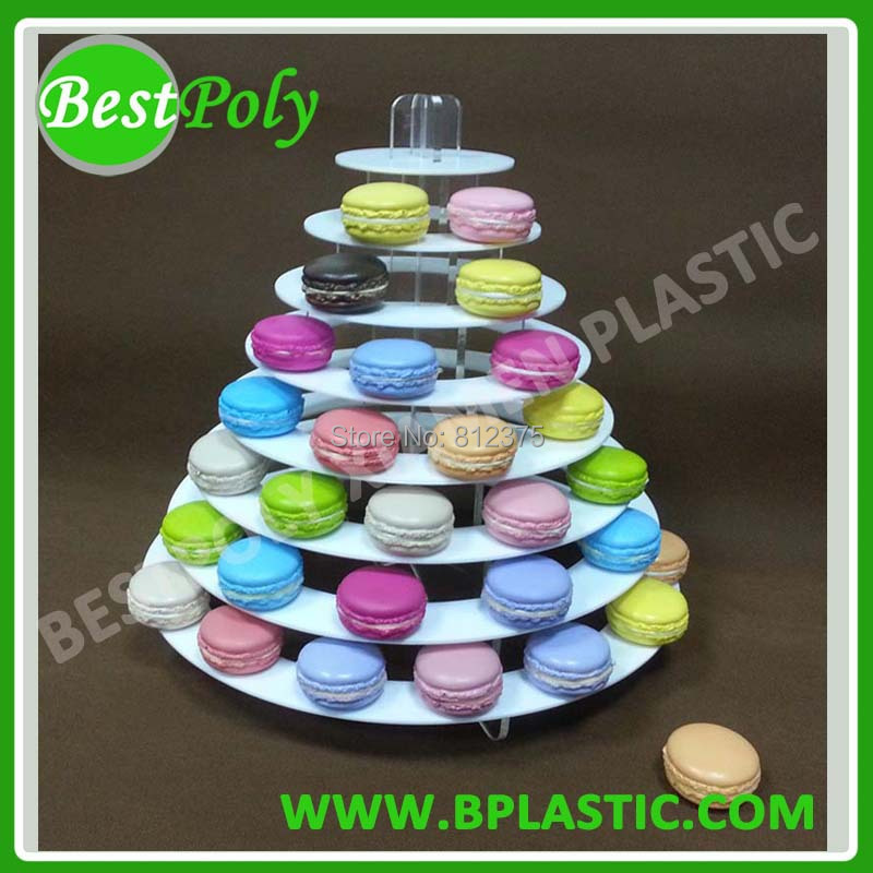 1 sada 8 stupňů akrylového makaronu, stojan Cookie Stand Macaron tower Doprava zdarma