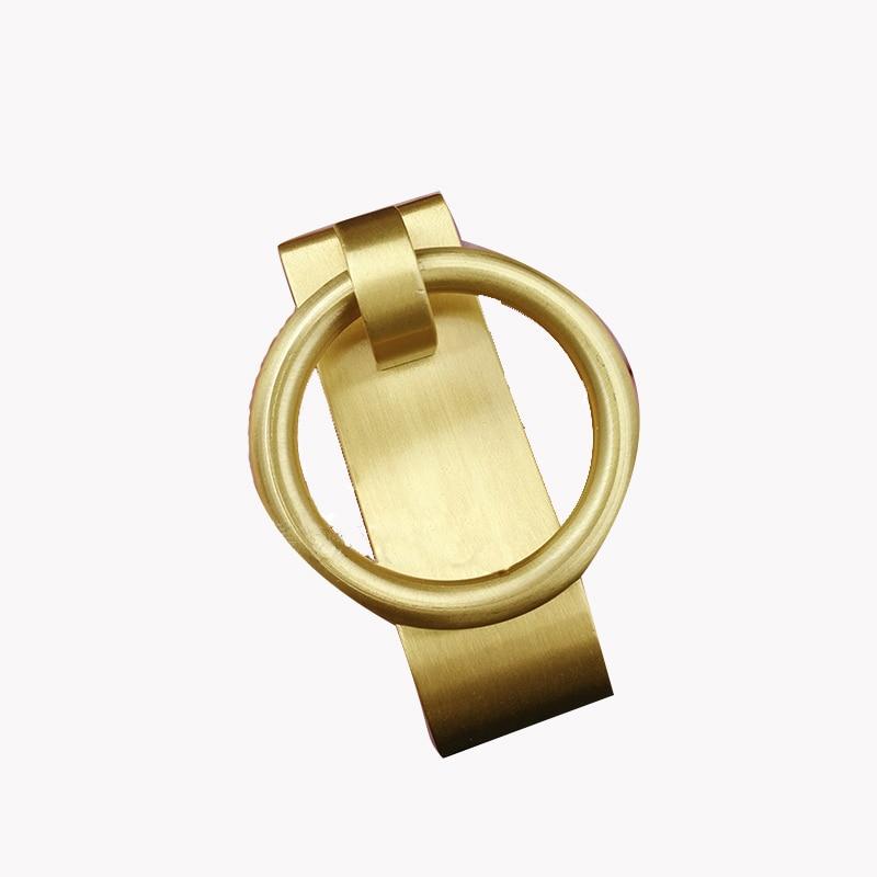 Quantity of 50 Antique Brass Cabinet Door Pull Handles New w//screws