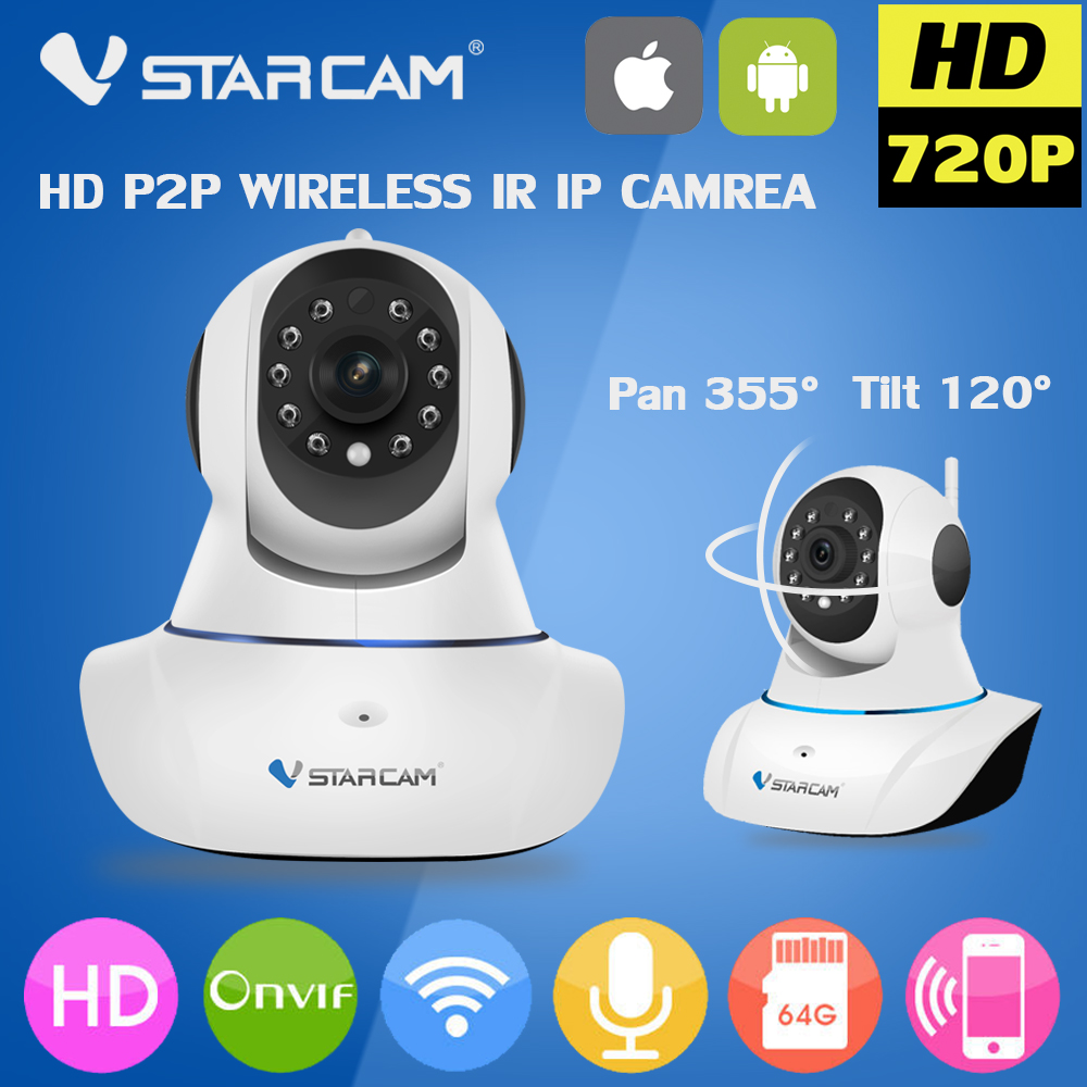 ФОТО Vstarcam Wifi IP Camera wifi 720P Night Vision Wireless MINI P2P CCTV Camera Security Onvif SD Card Indoor Home Cam Telecamera