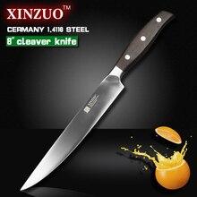 XINZUO 8 zoll sashimi messer Deutsch stahl küche hackmesser sushimesser palisander griff küche werkzeug freies shiping