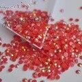 1000pcs 3mm New fashion Bling Jelly Nail Art red AB Rhinestones Phone Case Shiny Beads Flat back  N03