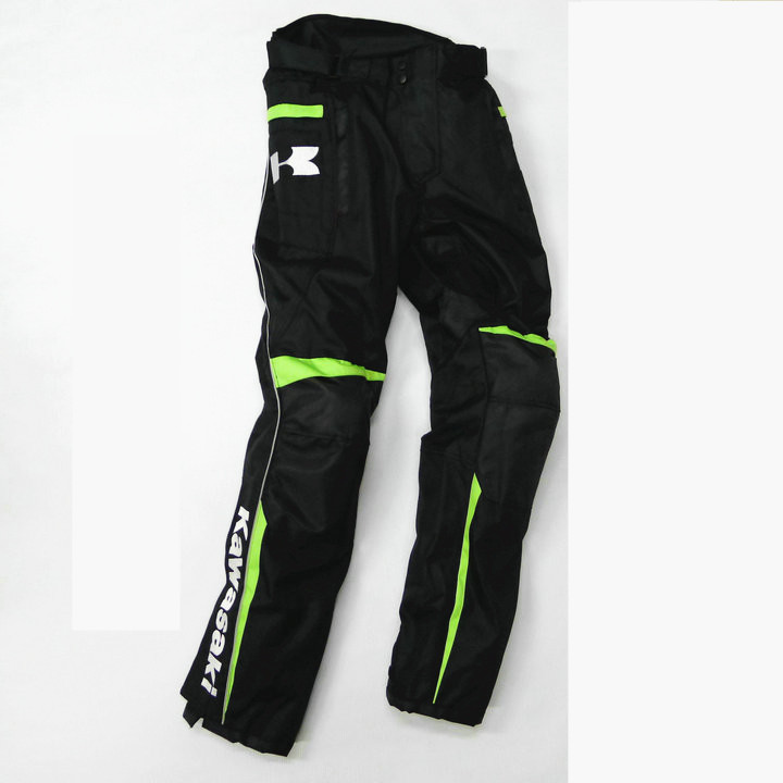 Free Shipping Winter motorcycle riding pants MOTOGP Kawasaki Team Pants Motocross Off-Road Racing Trousers With Protector scoyco professional motorcycle dirt bike mtb dh mx riding trousers motocross off road racing hip pads pants breathable clothing