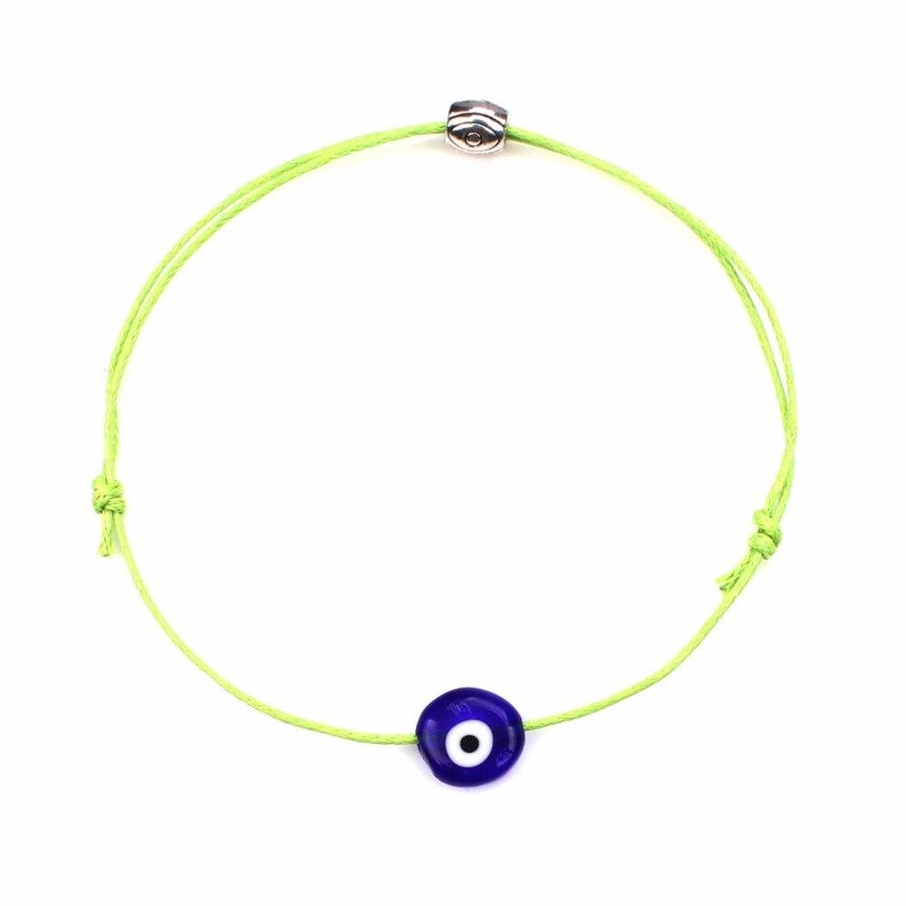 Turkish Lucky Evil Eye Bracelets For Women 6 Colors Handmade Braided Rope Lucky Jewelry Red Bracelet Female