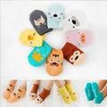 Мужская новорожденного носки детские пола носок мальчиков носки девушки дети детей cutu животное утка / тигр / обезьяна шаблон носки хлопок