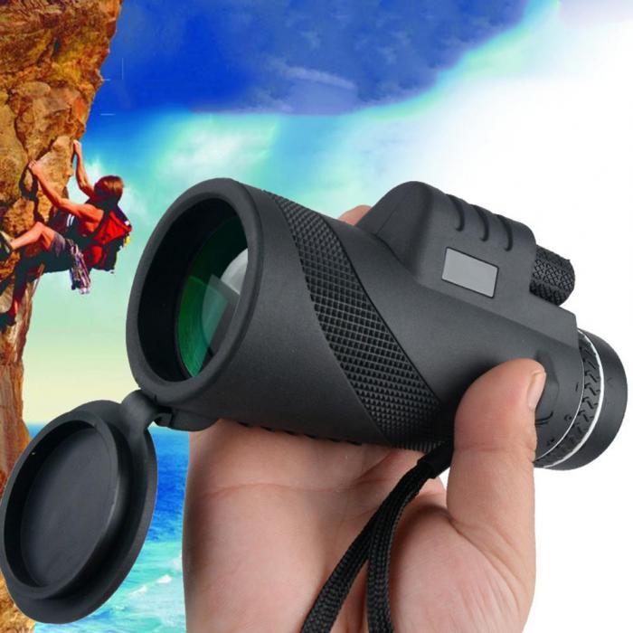 Telescópio monocular 40x prisma escopo compacto de