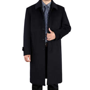 New Men's Woolen Jackets Autumn Man Wool Overcoat Autumn Turn-down Collar Casual Men Jacket Coats For Men - DISCOUNT ITEM  48% OFF All Category