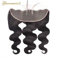 Glamorousremi перуанский объемная волна 13*4 Кружева Фронтальная застежка Remy 100% Пряди человеческих волос для наращивания 8 20 дюйм(ов) Бесплатная дос