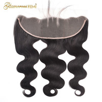 Glamorousremi Peruvian Body Wave 13*4 Lace Frontal Closure Remy 100% Human Hair Extensions 8 20 Inches Free Shipping For Women