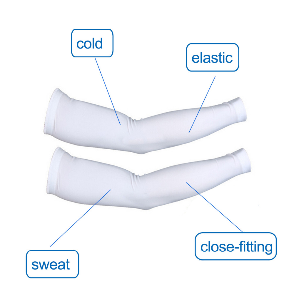 2Pcs/Set (1 Pair) Bike Cycling Ice Arm Sleeves Sun UV Protection Bicycle for Outdoor Games Sports Cycling Hiking